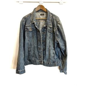 Vintage PUMP Dark Wash Denim Jacket Y2K XL